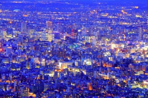 札幌中心市街地のマジックアワー
