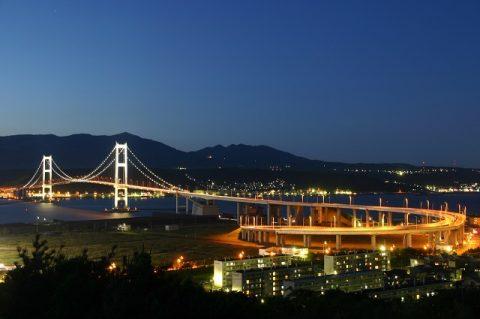 祝津公園展望台からの夜景