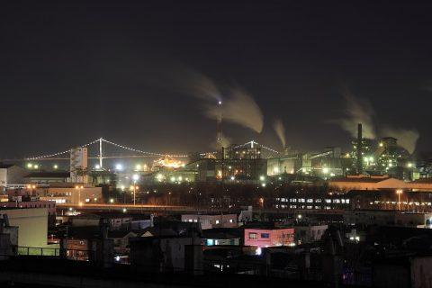 潮見公園展望台からの夜景