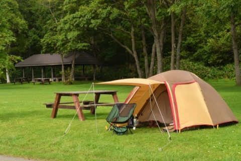 森の中のキャンプ場